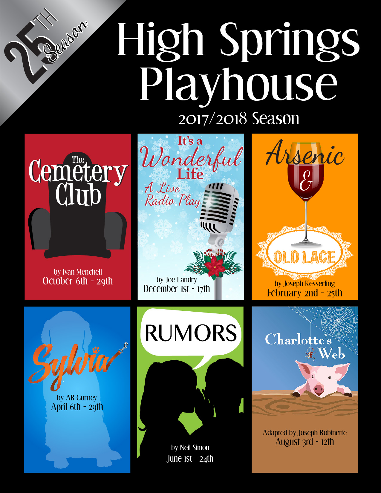 High Springs Playhouse 2017/2018 Season Schedule